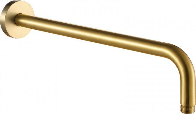 VOS brushed brass shower arm, 400mm