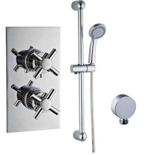 Mayfair ELE300 Elena Chrome Thermostatic Shower Valve And slide Kit Front View