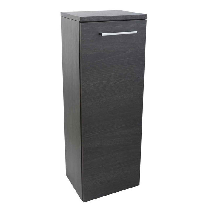 Just Taps WAL80BK Side Cabinet Black Front View