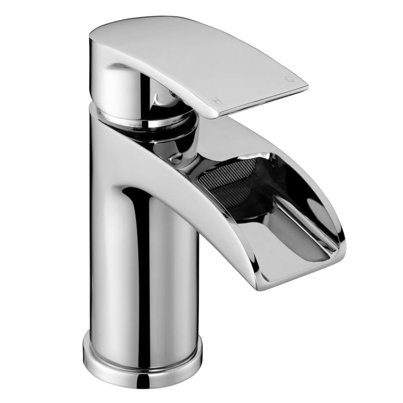 Just Taps JTRA111P Ravina Chrome Single Lever Basin Mixer Tap Front View