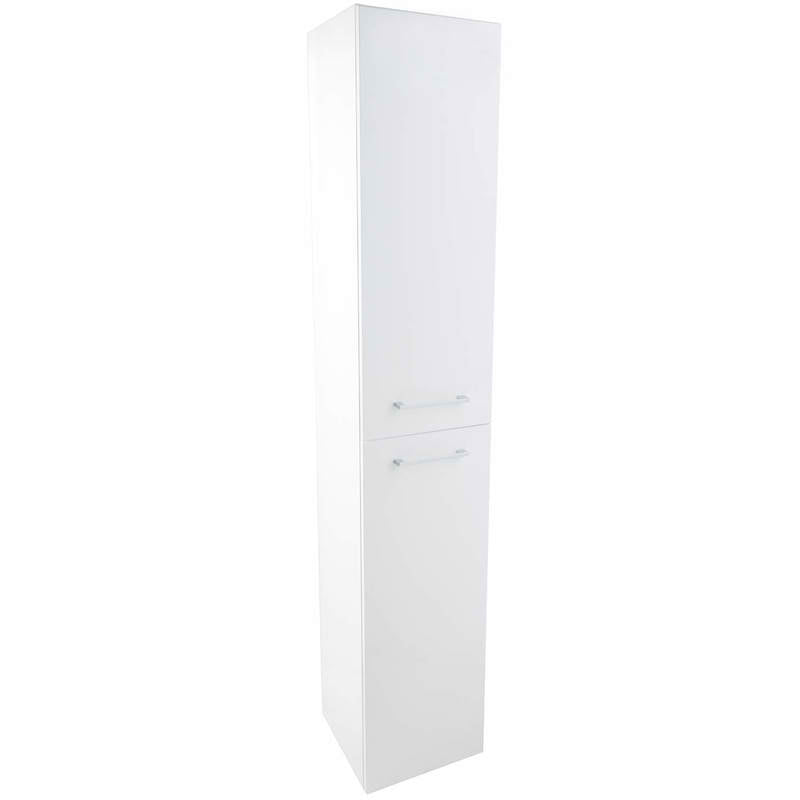 Just Taps Double Door White Side Cabinet WAL160W