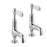 Just Taps 85025 Grosvenor Lever Cloakroom Basin Taps Front View