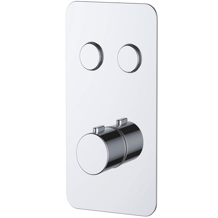 Just Taps 711122 Hugo Chrome 2 Outlet Touch Thermostat Front View