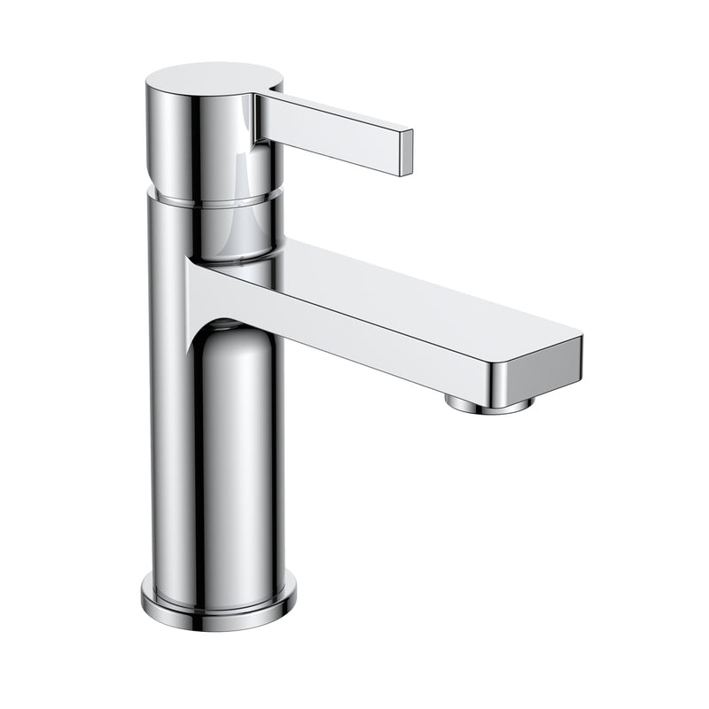 Just Taps 71025 Hugo Chrome Single Lever Basin Tap Front View