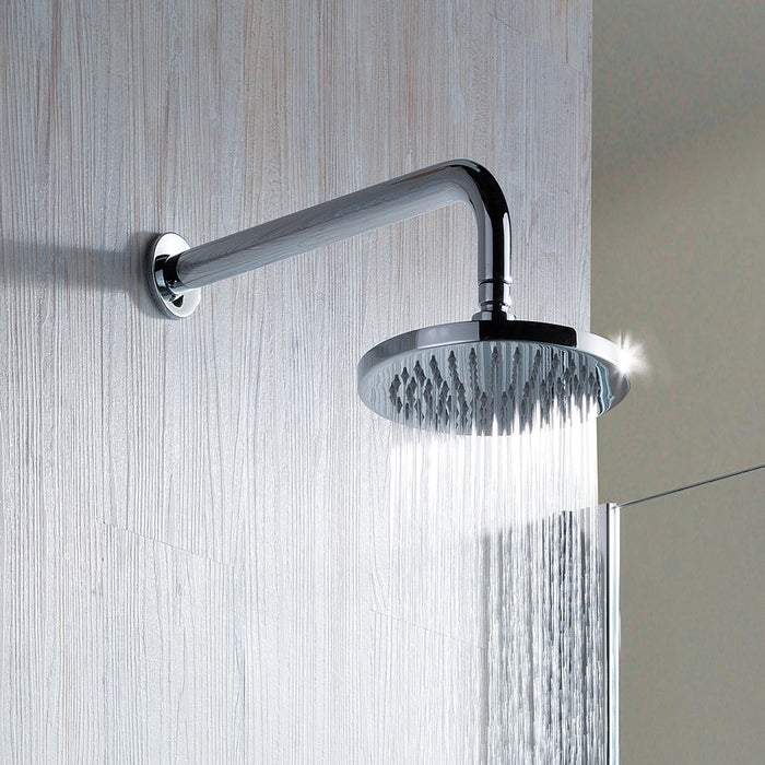 Just Taps COM064 Leo Chrome Overhead Shower Front View