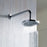 Just Taps COM065 Chrome Leo Overhead Shower Front View