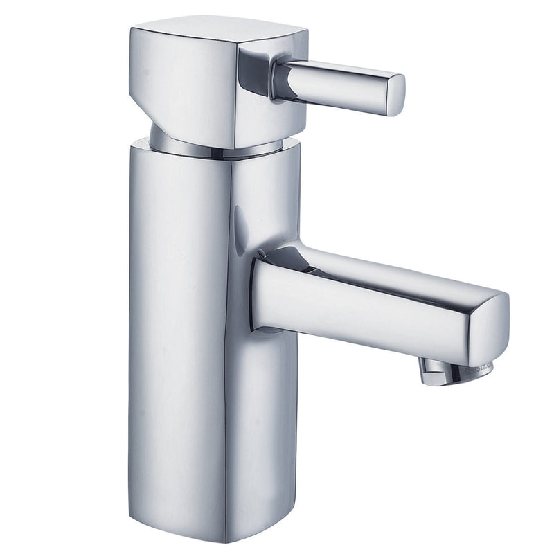 Just Taps 16001 Milo Chrome Basin Mixer Tap Front View