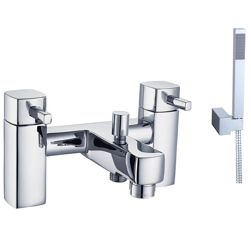 Just Taps 16275 Milo Chrome Deck Mounted Bath Filler Tap Front View