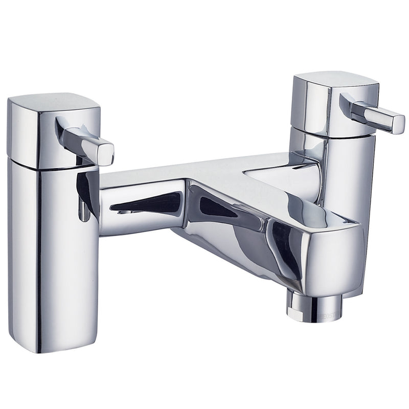 Just Taps 16223 Milo Chrome Deck Mounted Bath filler Tap Front View