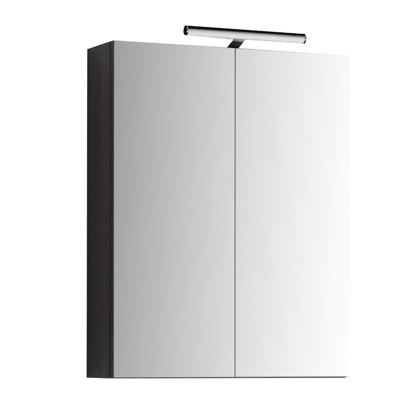 just taps Mirror Cabinet MR60BK Black Fornt View