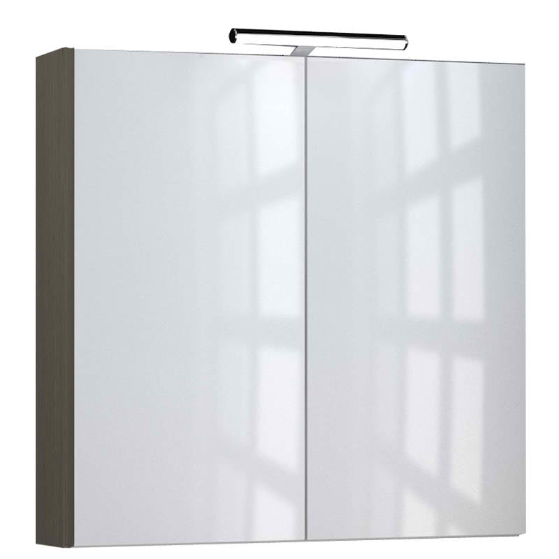 Just Taps MR80GR Grey Mirror Cabinet Fornt View