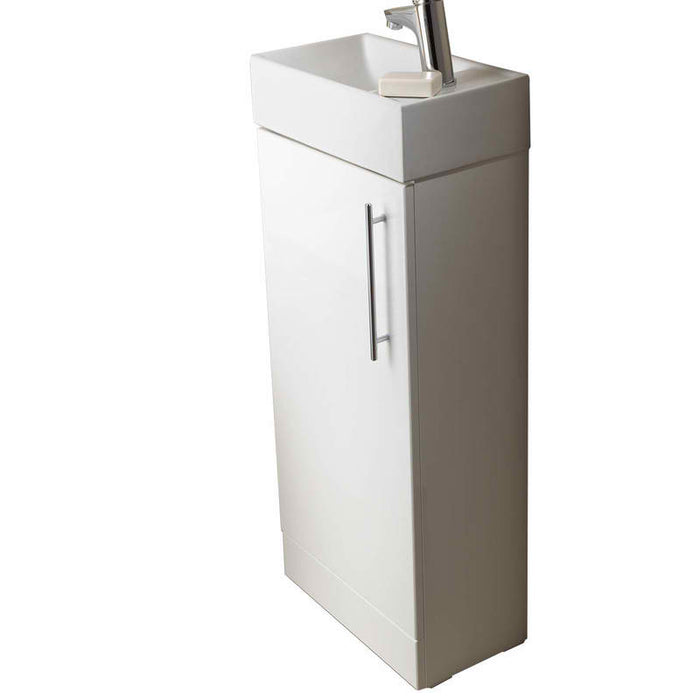 PFS402W/P400BS Floor Mounted Vanity Unit with Single Door