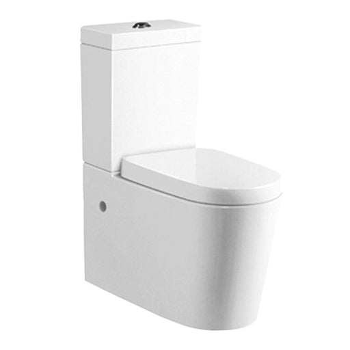 Just Taps PR006 Profile Porcelain Closed Couple WC Pan Front View
