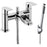 Just Taps JTRA301P Ravina Chrome Deck Mounted Bath Shower Mixer Front View