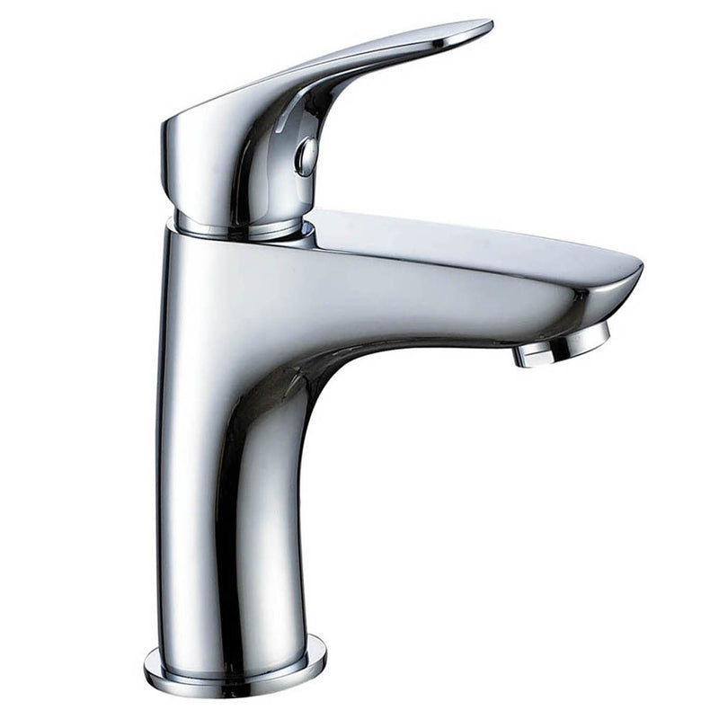 Just Taps RZ108 Rize Chrome Single Lever Basin Mixer Tap Front View