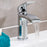 Just Taps Stream 18001 Chrome Single Lever Basin Mixer Sample Setup