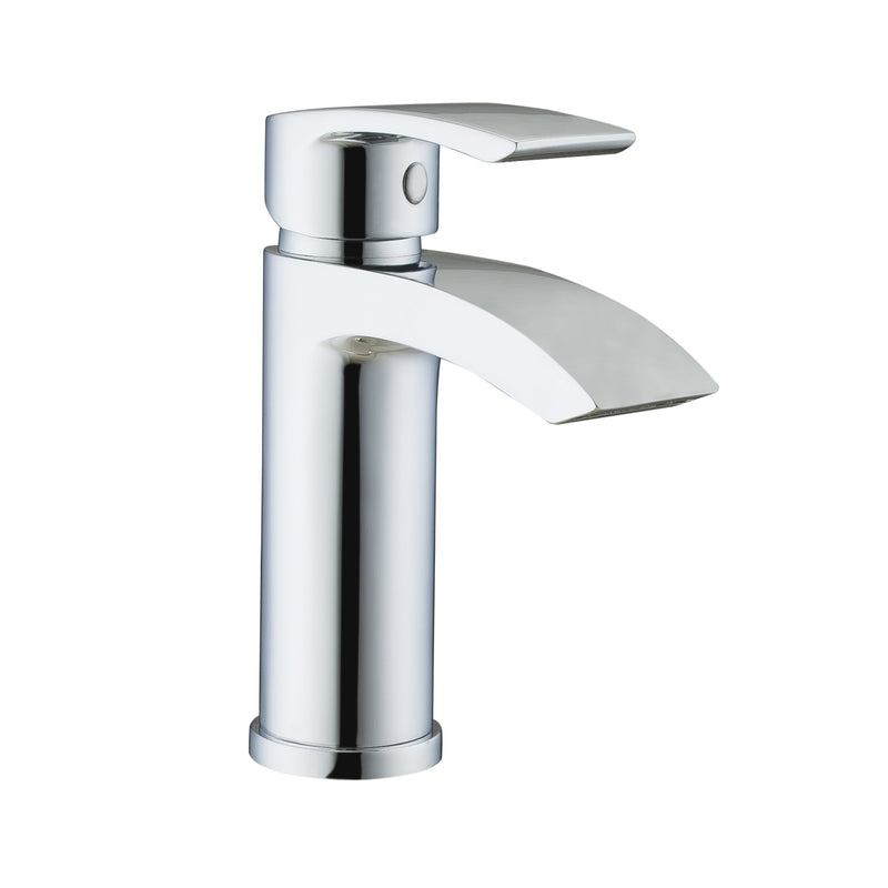 Just Taps 18025 Stream Chrome Mini Single Lever Basin Tap Front View