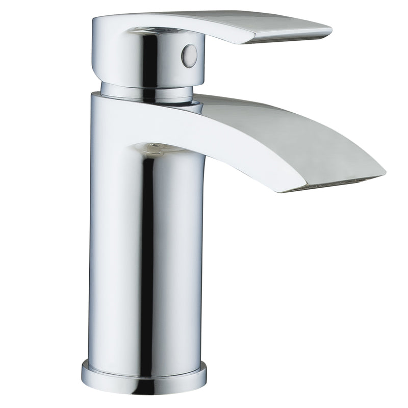 Just Taps 18001 Stream Chrome Basin Mixer Tap Front View