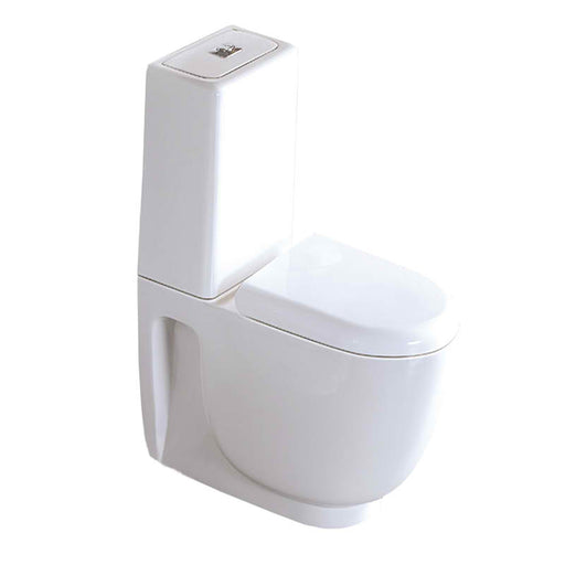 Just Taps STY001 Style Closed Couple WC Pan with Cistern Front View
