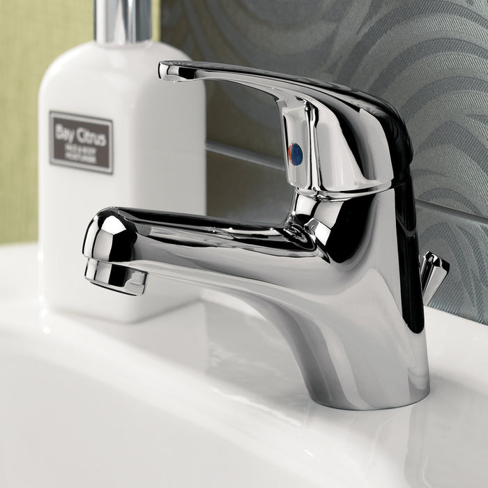 Just Taps Topmix TM108 Single Lever Chrome Basin Mixer Sample Setup