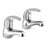Just Taps Topmix Chrome Pair Basin Taps TM001