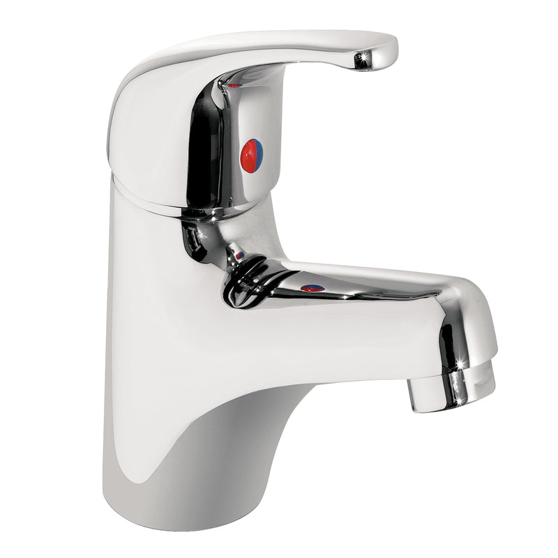 Just Taps TM108 Topmix Chrome Single Lever Basin Mixer Tap Front View