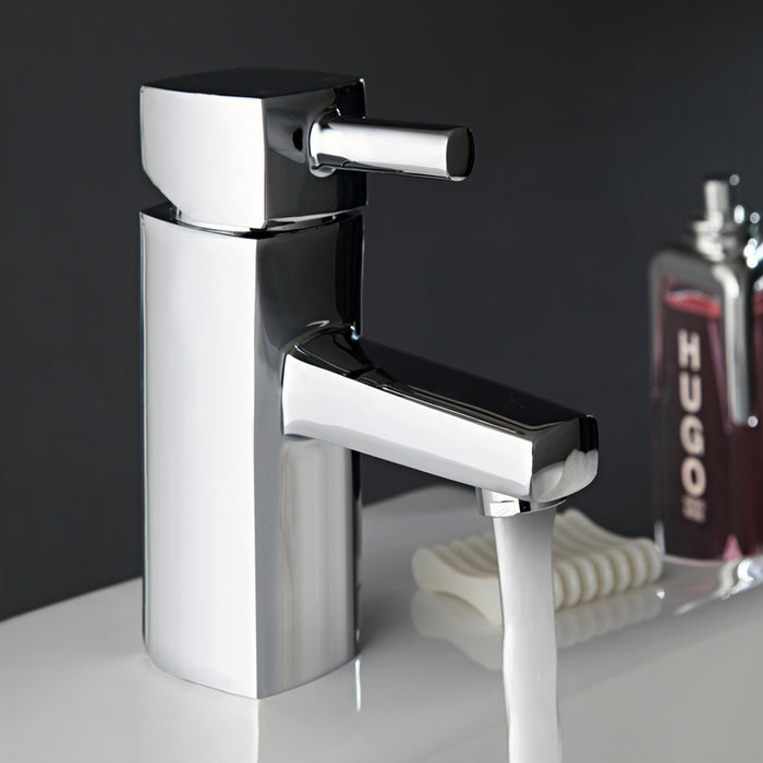 Just Taps Milo Chrome Basin Mixer Tap 16001 Sample Setup
