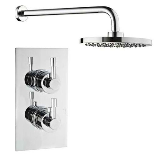 Mayfair AMA100 Amazon Chrome Thermostatic Valve and Arm Front View