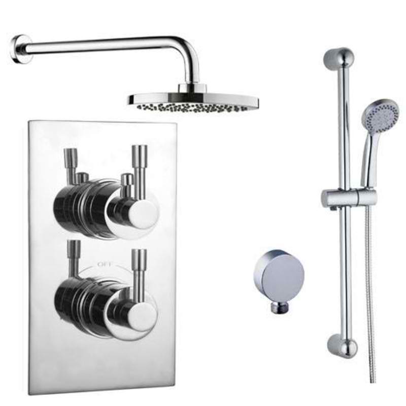 Mayfair AMA400 Amazon Chrome concealed Valve and Shower Arm Front View