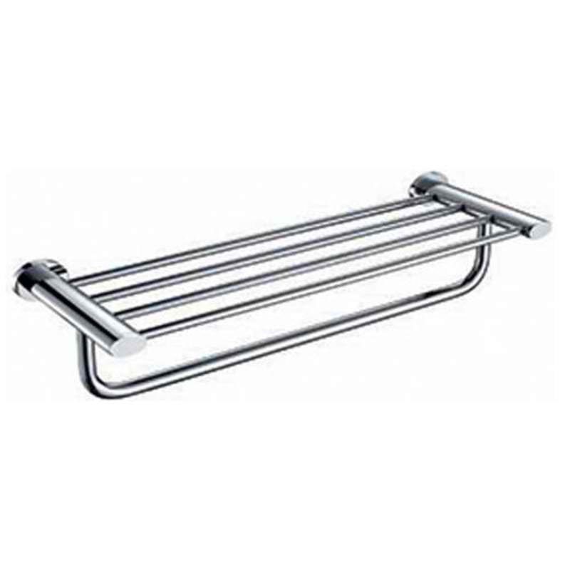 Mayfair OVA403 Oval Chrome Towel Shelf Front View