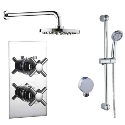 Mayfair ELE400 Elena Chrome Concealed Valve and Shower arm Front View
