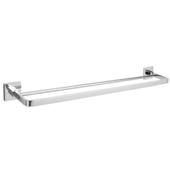 Mayfair ICE402 Ice Chrome Double Towel Bar Front View