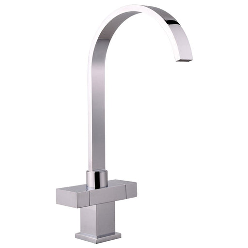 Mayfair Kubo Chrome Monobloc Kitchen Tap Front View