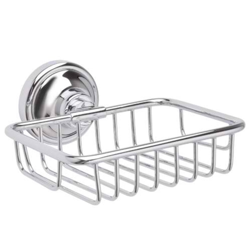 Mayfair MAT407 Matrix Chrome Soap Dish Front View