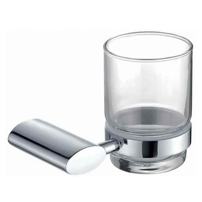 Mayfair OVA406 Oval Chrome tumbler Holder Front View