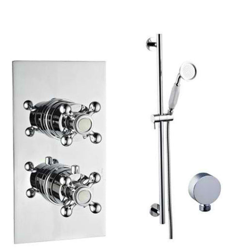 Mayfair OXF300 Oxford Chrome Thermostatic Valve and Shower Arm Front View