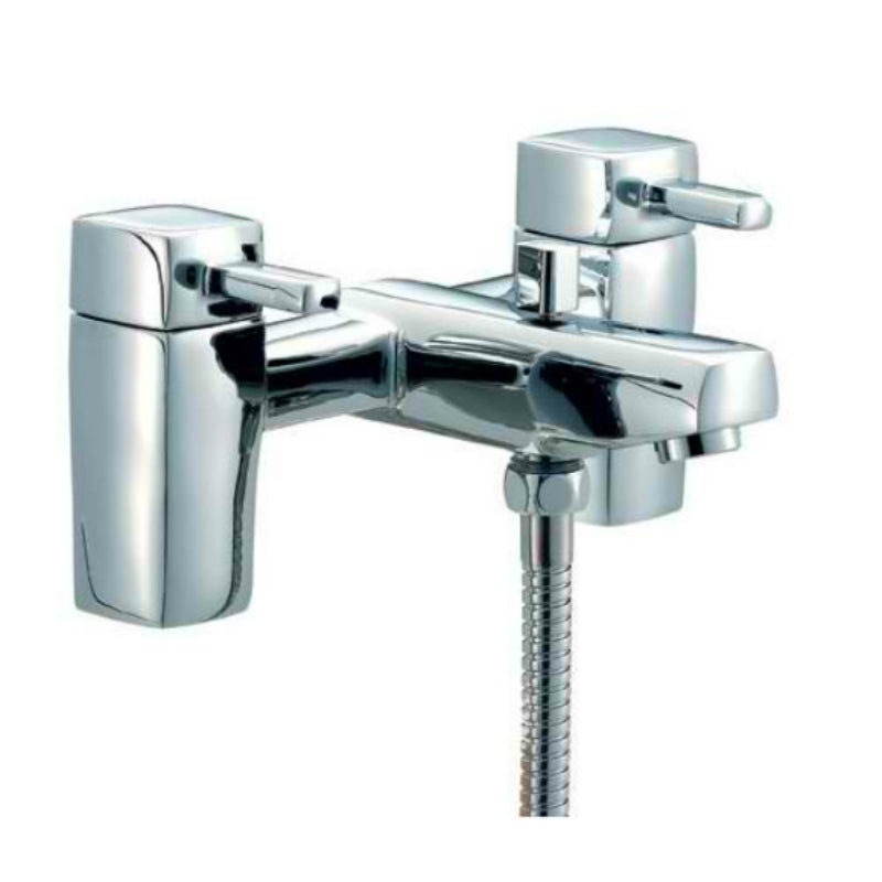 Mayfair QL Chrome Bath Shower Mixer with Kit - Bath Tap QZ007