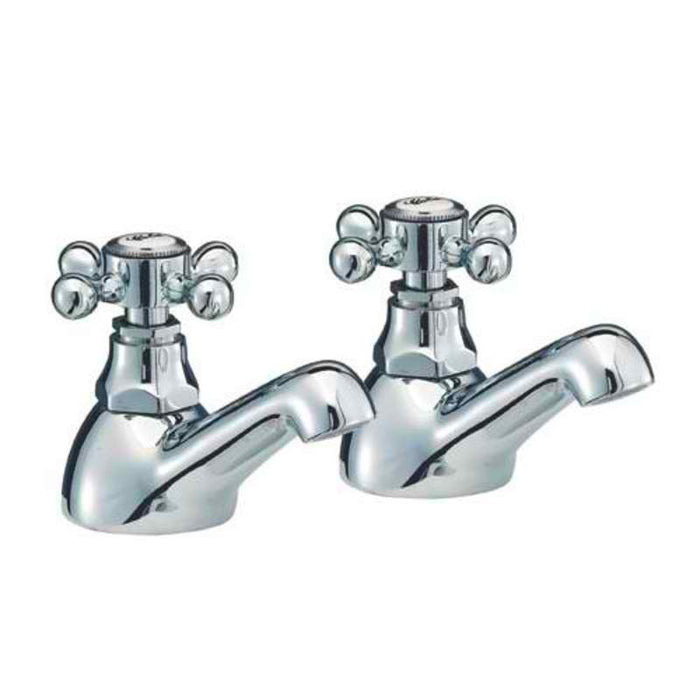 Mayfair RZ005 Ritz Chrome Bath Taps Front View