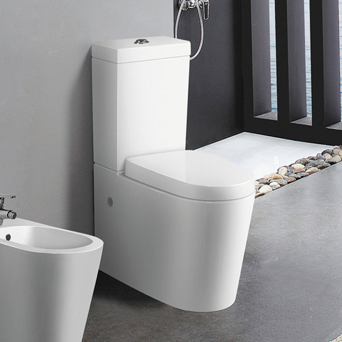 PR006 Profile Porcelain Closed Couple WC Pan with Cistern Sample Setup