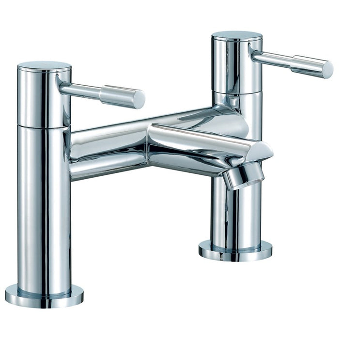 Chrome Dual Lever Series F Bath Filler Front View