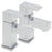 Tre Mercati Edge Chrome 22320 Pair of Bath Taps Full View