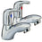 Tre Mercati 25020 Chrome Latina Pair of Bath Taps Full View