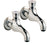 Tre Mercati Capri Chrome Pair of Bib Taps with Top Press Full View