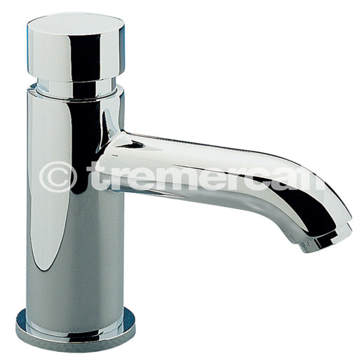 Tre Mercati Chrome 408 Capri Non Concussive Temp Tech Basin Tap Single Full View