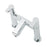 Tremercati 22135 Chrome Angle Pillar Bath Filler Full View