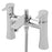 Tre Mercati Balena 24050 Chrome Pillar Bath Shower Mixer Complete with Kit Full View