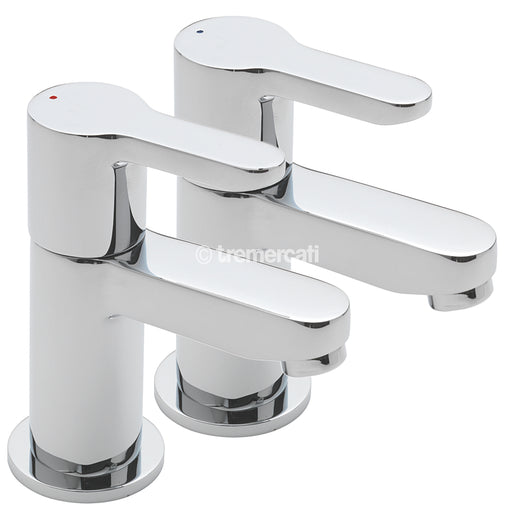 Tre Mercati Chrome Lollipop 1220 Pair of Bath Taps Full View
