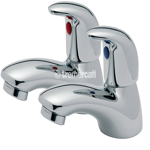 Tre Mercati Chrome 65020 Novara Pair of Bath Taps Full View