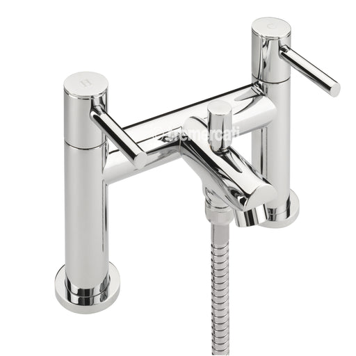 Tre Mercati 44055 Chrome Poppy Bath Shower Mixer & Kit Front View