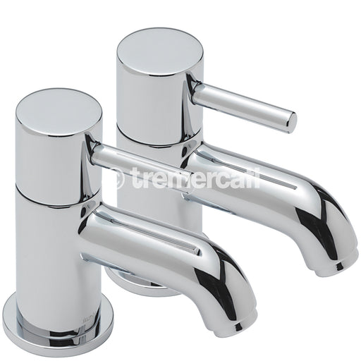 Tre Mercati Chrome 63020 Milan Pair of Bath Taps Ful View